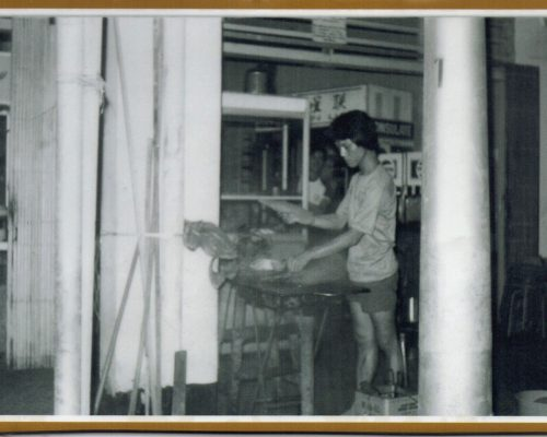 Founder of KWONG SATAY (Picture taken in 1982)